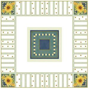 Sunflower Square by Maria Trad