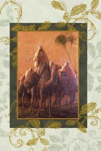 wise men coming to see jesus on camels by Maria Trad