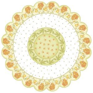 Yellow Roses Round by Maria Trad