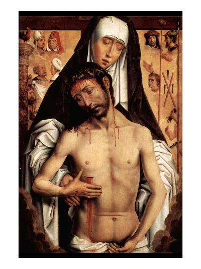 Maria with Dying Christ by Memling-Hans Memling-Art Print