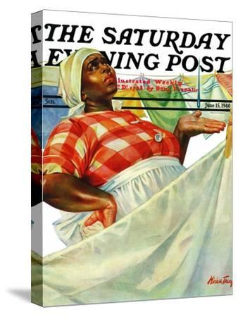 """Rain on Laundry Day,"" Saturday Evening Post Cover, June 15, 1940"