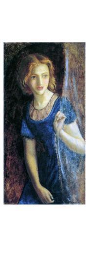 Mariana at the Window, 1865-67-Arthur Hughes-Giclee Print