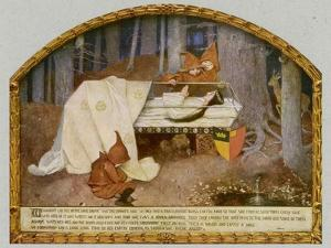 Snow White in Her Glass Coffin is Mourned by the Dwarfs by Marianne Stokes