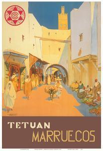 Tétouan (Tetuán) - Morocco (Marruecos) - City of the White Dove by Mariano Bertuchi