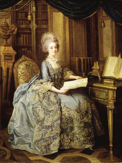 Marie Antoinette, 1755-93 Queen of France, as Dauphine-Li?-Louis Perin-Salbreux-Giclee Print