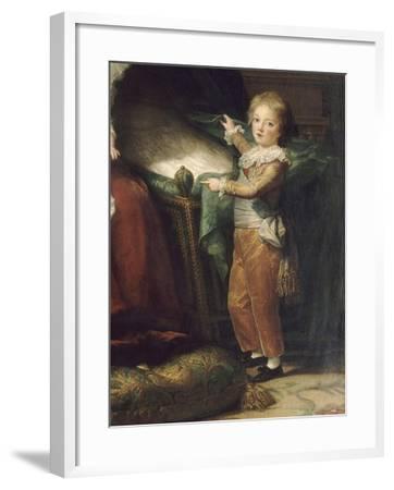 Marie-Antoinette de Lorraine-Hasbourg, reine de France et ses enfants-Elisabeth Louise Vigée-LeBrun-Framed Giclee Print