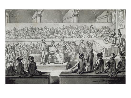 Marie-Antoinette devant le tribunal révolutionnaire, journées du 14,15,16 octobre 1793--Giclee Print