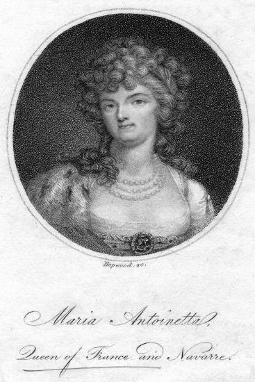 Marie Antoinette, Queen Consort of Louis XVI of France- Hopwood-Giclee Print