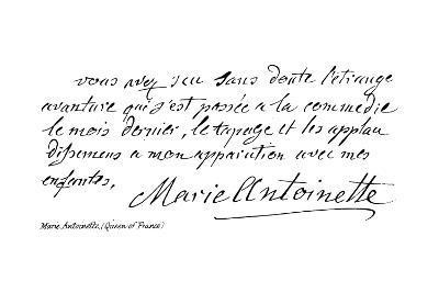 Marie Antoinette--Giclee Print