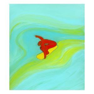 Man surfing by Marie Bertrand
