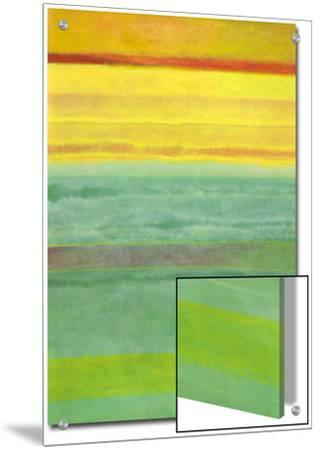Layered Yellow and Green Abstract