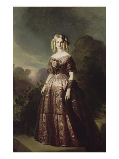 Marie-Caroline-Auguste de Bourbon-Salerne, duchesse d'Aumale (1822-1869)-Franz Xaver Winterhalter-Giclee Print