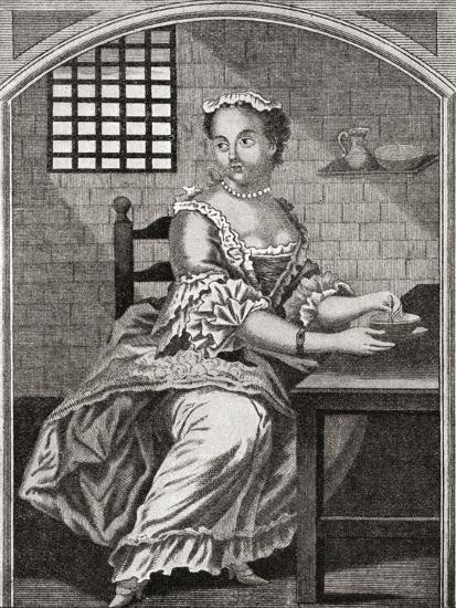 Marie Catherine Taperet 1728 - 1755. Seen Here in Prison before Being Executed in the Place De Grêv--Giclee Print