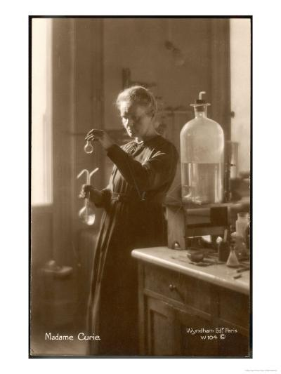 Marie Curie Physical Chemist in Her Laboratory--Giclee Print