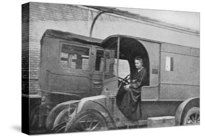 Marie Curie, Polish-Born French Physicist, Driving a Car Converted into a Radiological Unit, 1914