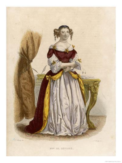 Marie De Rabutin-Chantal Marquise Known as Madame De Sevigne-A. Boilly-Giclee Print
