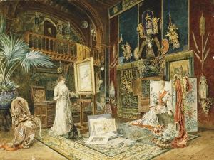 The Studio of Sarah Bernhard, 1885 by Marie Desire Bourgoin