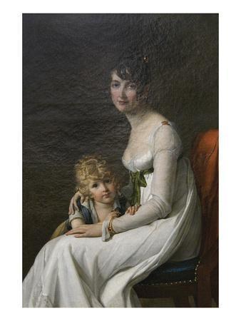 Madame Philippe Desbassayns De Richemont (Jeanne Eglé Mourgue, 1778–1855) and Her Son, Eugène