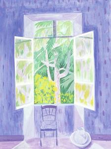 Cedars Through the Window, 1987 by Marie Hugo