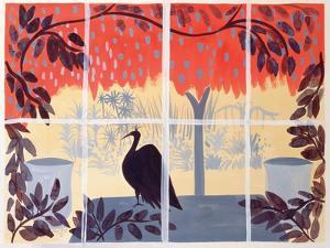 Paon Sur La Table, 1985 by Marie Hugo