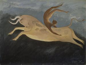 Taureau au Danseur Cretois, 1987 by Marie Hugo
