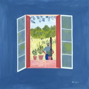 Zaid Through the Window, 1986 by Marie Hugo