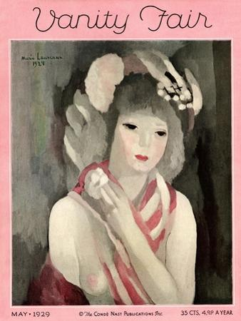 Vanity Fair Cover - May 1929 by Marie Laurencin
