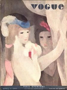 Vogue Cover - April 1931 by Marie Laurencin