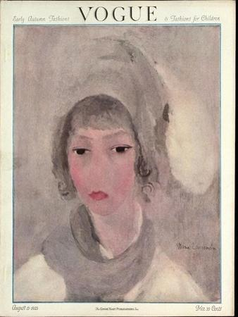 Vogue Cover - August 1923 by Marie Laurencin