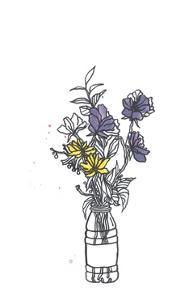Bottle Flowers by Marie Lawyer