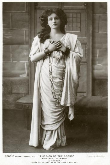 Marie Leonhard, Actress, C1900s-Foulsham and Banfield-Giclee Print