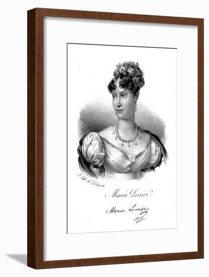 Marie-Louise, Empress of the French, C1830- Delpech-Framed Giclee Print