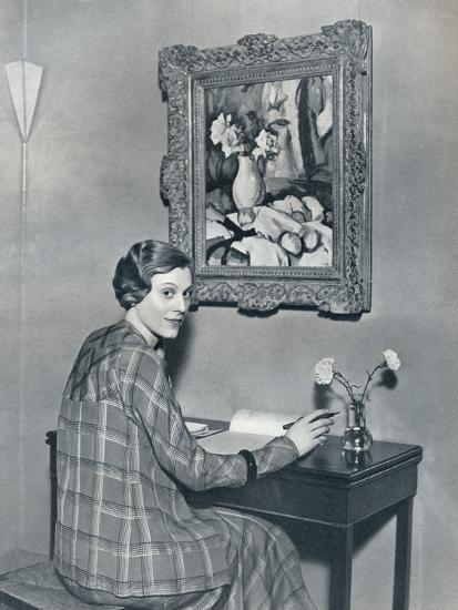 'Marie Ney in her Flat', c1934-Unknown-Photographic Print