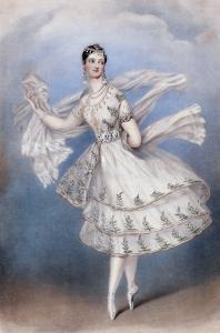 Marie Taglioni as the Bayadere, c.1831