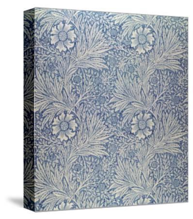 Marigold' Wallpaper Design, 1875-William Morris-Stretched Canvas Print