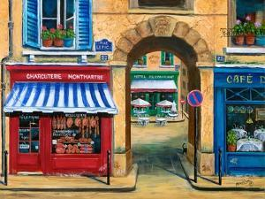 French Butcher Shop Montmartre by Marilyn Dunlap