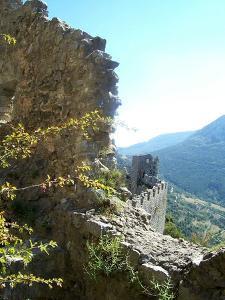 Puilaurens Castle Walls France by Marilyn Dunlap