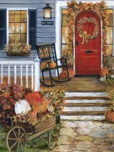 Pumpkin Porch by Marilyn Dunlap