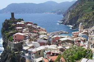 Rooftops of Cinque Terre Vernazza by Marilyn Dunlap