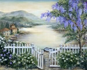 Tuscan Pond and Wisteria by Marilyn Dunlap