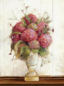 Dreamy Hydrangea II on Birch by Marilyn Hageman