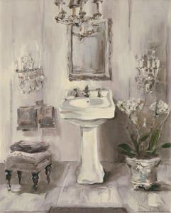 French Bath III Gray by Marilyn Hageman