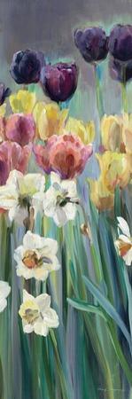 Grape Tulips Panel I by Marilyn Hageman