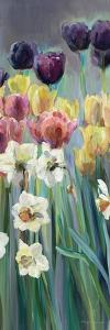 Grape Tulips Panel I by Marilyn Hageman