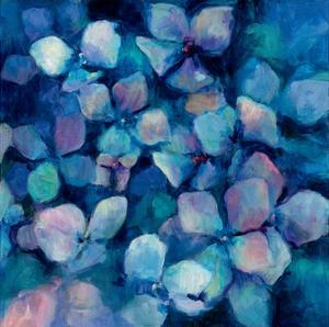 Midnight Blue Hydrangeas by Marilyn Hageman