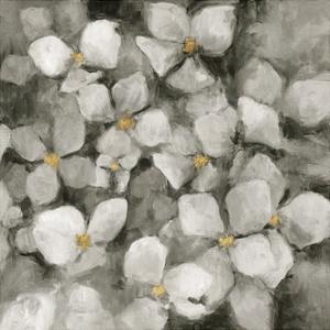 Midnight Neutral Hydrangeas with Gold by Marilyn Hageman