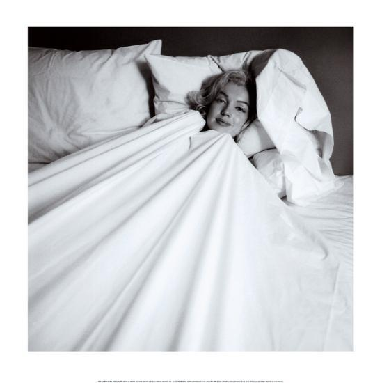 Marilyn in Bed-Milton H^ Greene-Art Print