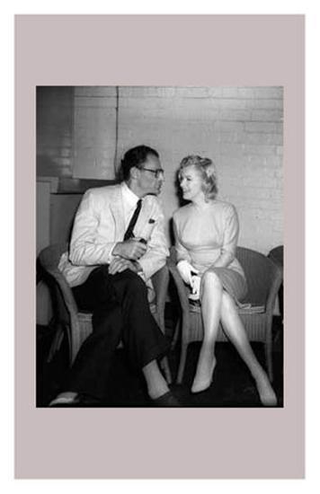 Marilyn Monroe and Arthur Miller--Art Print