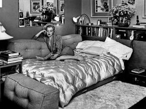 Marilyn Monroe at Home in Hollywood in 1962