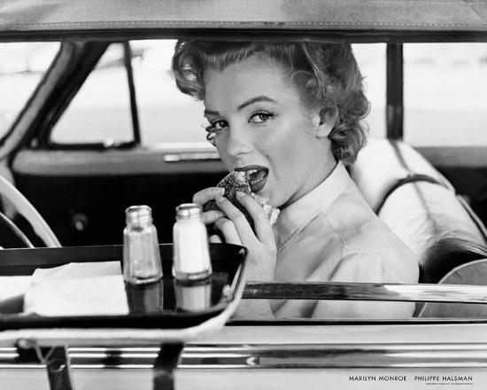 Marilyn Monroe at the Drive-In, 1952-Philippe Halsman-Art Print
